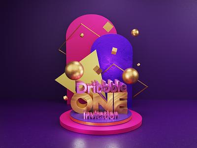 Dribbble invitation :) blender3dart design blender 3d illustration 3d 3d art blender3d blender