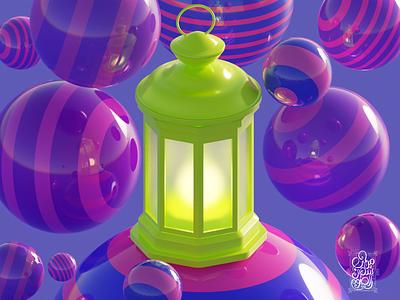 Ramadan Joy illustration blender3dart blender 3d blender3d blender 3d art 3d