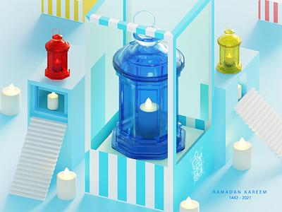 Ramadan lantern Shop elegant daily c4d blender3dart blender 3d blender 3d art 3d