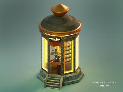 Lanterns Shop blender3dart illustration blender3d blender 3d 3d art blender 3d