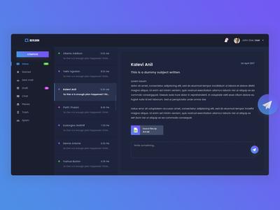 Mail Client App (Dark Version)