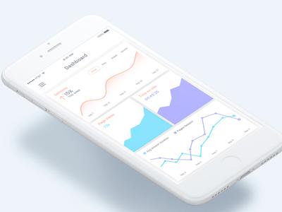 Dashboard Screen - Analytics App line chart mobile ui ux dribbble best shot ios analytics bar menu data activity graph dashboard