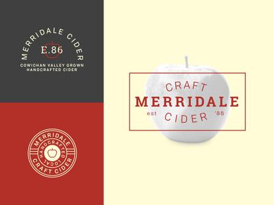 Merridale II typography type mark logo illustration cider branding apple