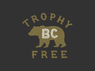 Trophy Free II typography mark design environment grizzly bear branding illustration lettering logo
