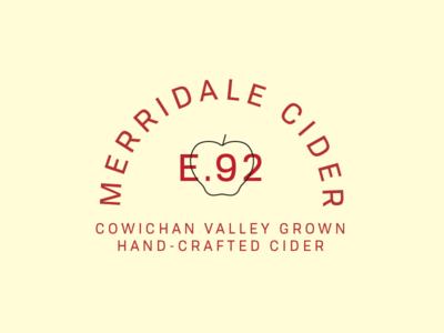Merridale III type design icon apple cider illustration typography logo mark branding