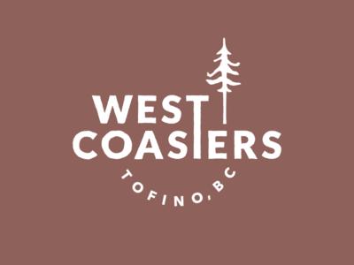 West Coasters Logo typography tofino tree west coast illustration lettering branding logo