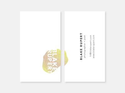 Blake Rupert Photography brand illustration gradient logo typography branding photography businesscard