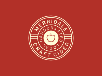 Merridale IV cider type vector art classic apple lettering typography illustration branding logo
