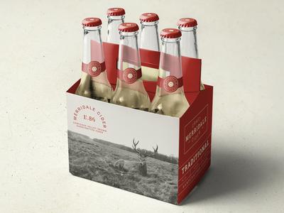 Merridale Packaging bottle type design typography logo bottles cider beer packaging branding