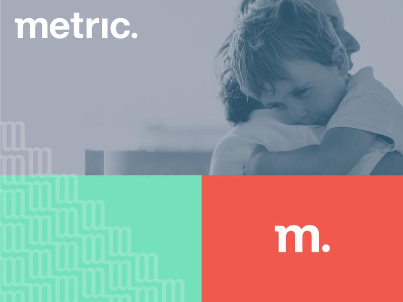 Metric Rebrand design illustration type logo logodesign branding
