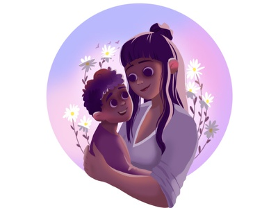 Armenian Mothers Day mothers day mother family characters flowers plants draw girl woman flat character illustration design