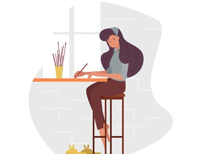 Drawing Girl drawing draw designer design cute creative creation creating colorful charming beautiful attractive