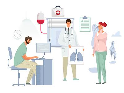 Healthy Lungs ))) illustration health lug medicine design character