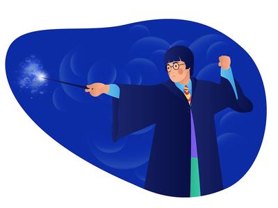 Harry Potter wand magic patronus illustration film potter harry design character