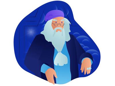 Dumbledore illustration book dumbledore albus design film characters potter harry