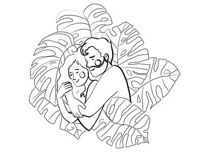 Sweet Dreams lovers sweet dream sleep love illustration design character