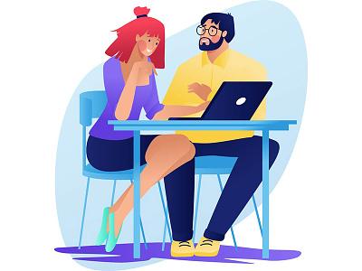 Conversation love happy conversation talk speak illustration design character