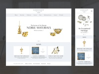 Jewelry brand website mockup