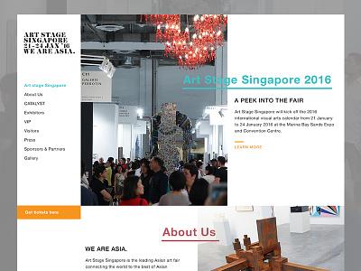 Art Stage Singapore Concept  contemporary artshow webdesign minimal landing ui web website design art concept mockup