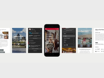 Mobile screen samples ux ios dashboard interface hotel travel filter cards ui responsive mobile