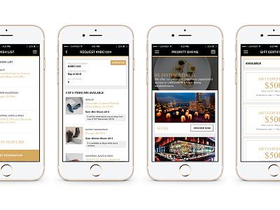 App design work in progress voucher list loyalty shopping hospitality ios interface ux ui wip mobile app