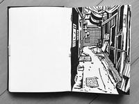 Back alley sketch