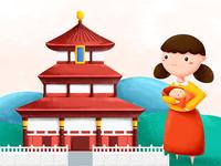 World illustration China