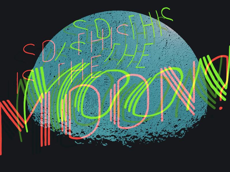 Weird Seeing You Here adobe photoshop graphic design moon