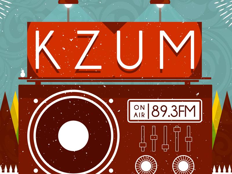 KZUM's 2015 Lincoln Calling Showcase graphic design digital print adobe photoshop gig poster