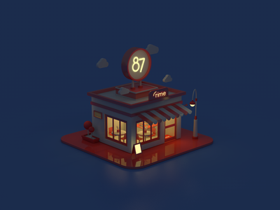 87time store - night
