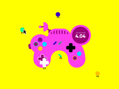 Lose Control - Game lose control development indie control gaming controller character illustrator illustration interactive design vector game design art game