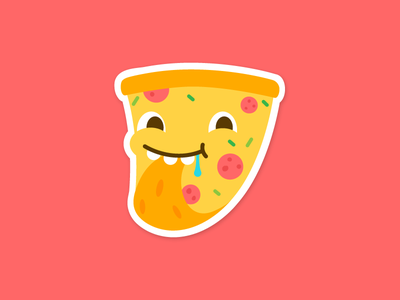 Even Pizza Likes Pizza illustrator food hungry cute flat vector character pizza vinnys playoff mule sticker