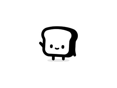 butterbehavior.com logo food cute illustration character hello toast bread
