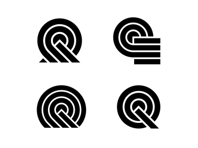 \\\\ nature shapes square q sun mountain simple minimal lines circle branding logo