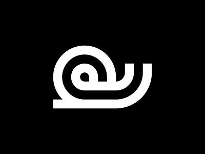 Snail nature simple minimal line animal snail icon logo
