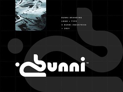 bunni type outdoor snowboard ski bunny rabbit bunni steven brand animal icon branding cute nature minimal simple logo