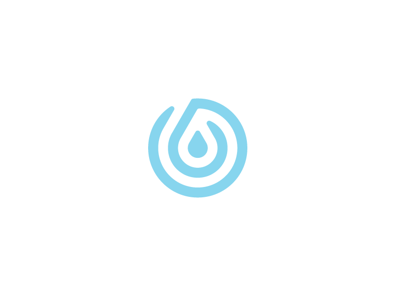 Drop Logo grid clean simple ripple thumb print finger drop water logo