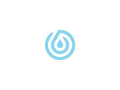 Drop Logo grid clean simple ripple thumb print finger drop water logo