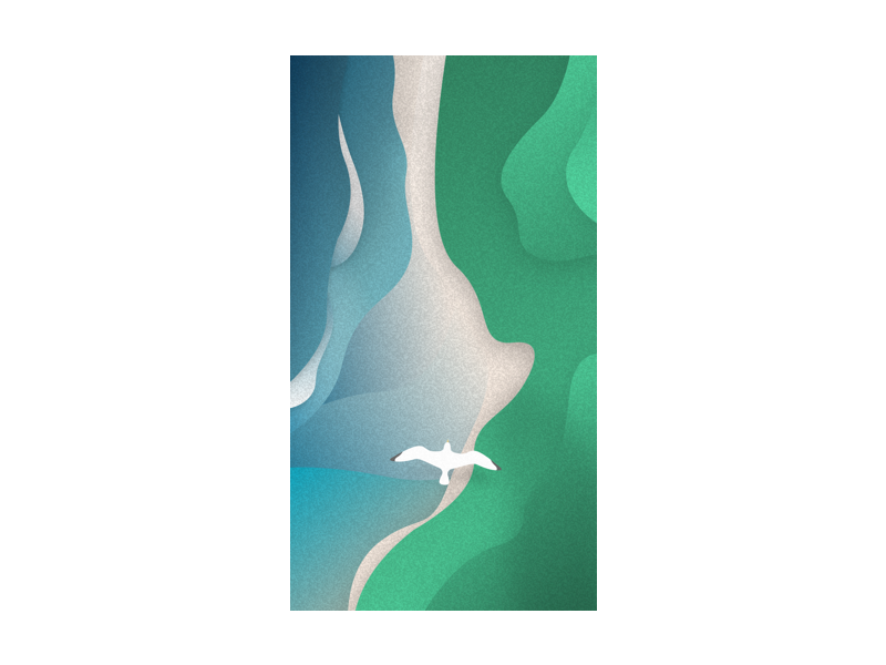 Sea & Sky game ios minimal nature ocean flight seagull sky sea