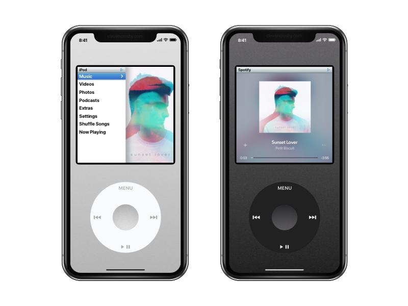 iPod X app music spotify iphone x apple ipod