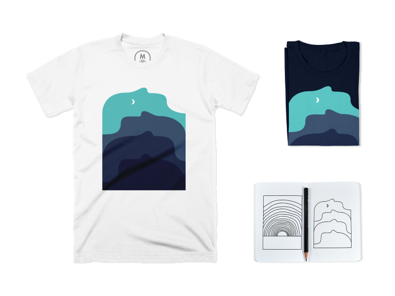 Sleeping Giants clothes tshirt simple moon mountains sleep abstract minimal sleeping giants shirt