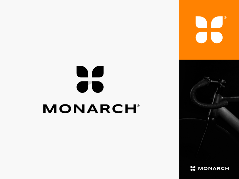Monarch Brand Identity insect identity branding brand royalty monarch bicycle butterfly logo