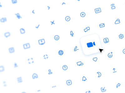 Zoom Redesign – Icon Library