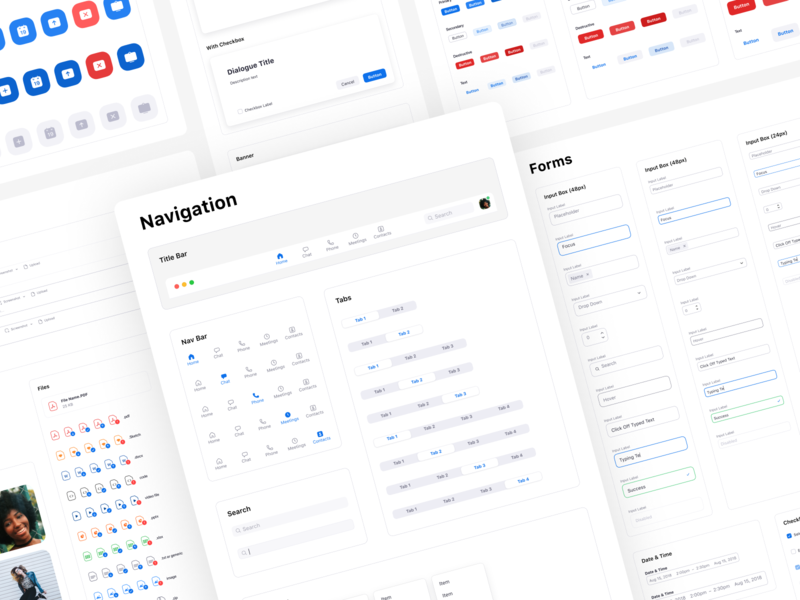 Zoom's Design System product design ux ui happy meetings component library design system video zoom