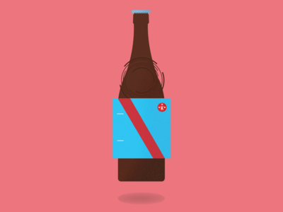 Beau's Kissmeyer Nordic Pale Ale colours bright abstract series flat packaging illustration