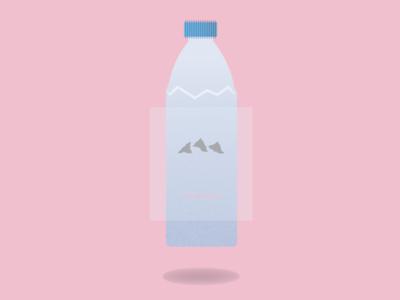 Evian Bottle colors fun bright illustrator illustration flat simple design