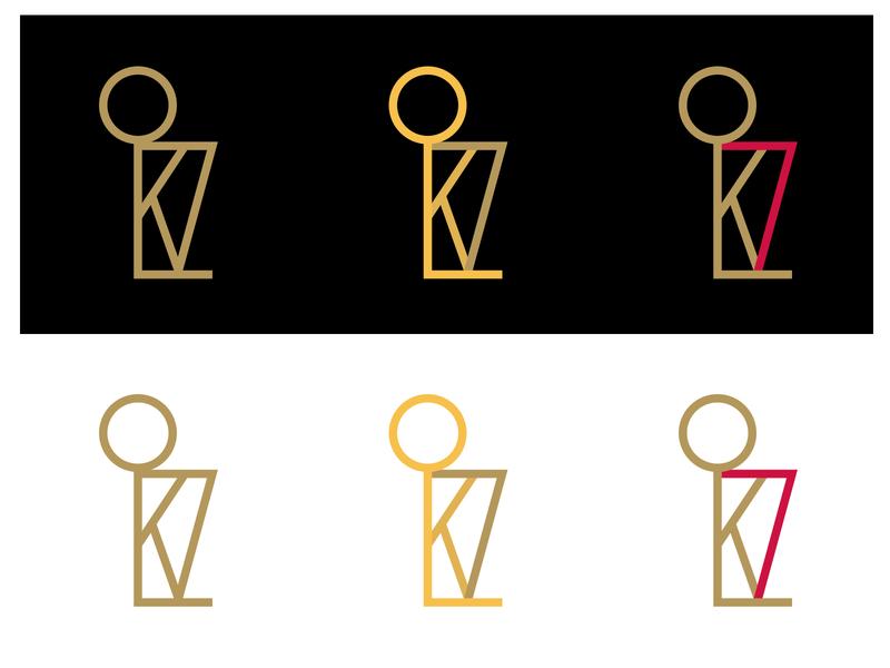 KL7 simple logo vector black red gold toronto illustration monogram basketball