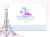 Marble Data Landing Page