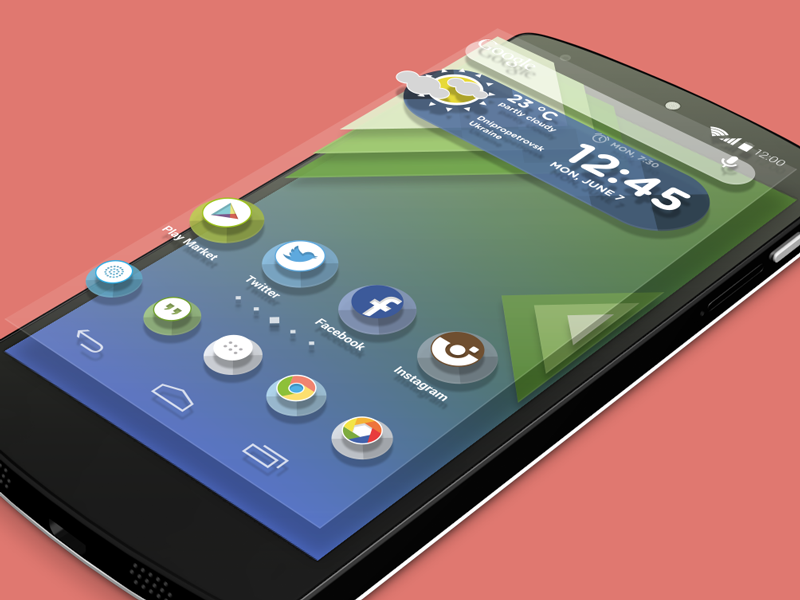 Android launcher theme flat icons theme launcher android psd free mobile ui