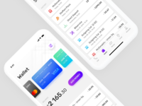 Wallet Tab transactions history iphonex ios ux ui card finance wallet mobile